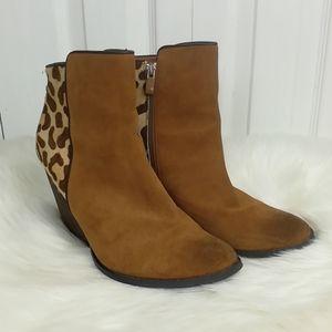 Very Volatile ponyhair leopard print ankle booties